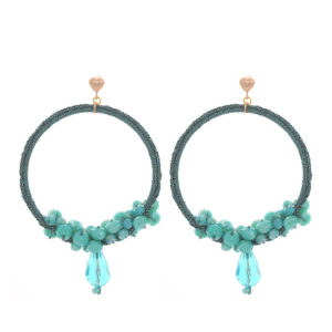 BD-2016-20-turqoise-beaded-hoops with dangle-rose heart-button